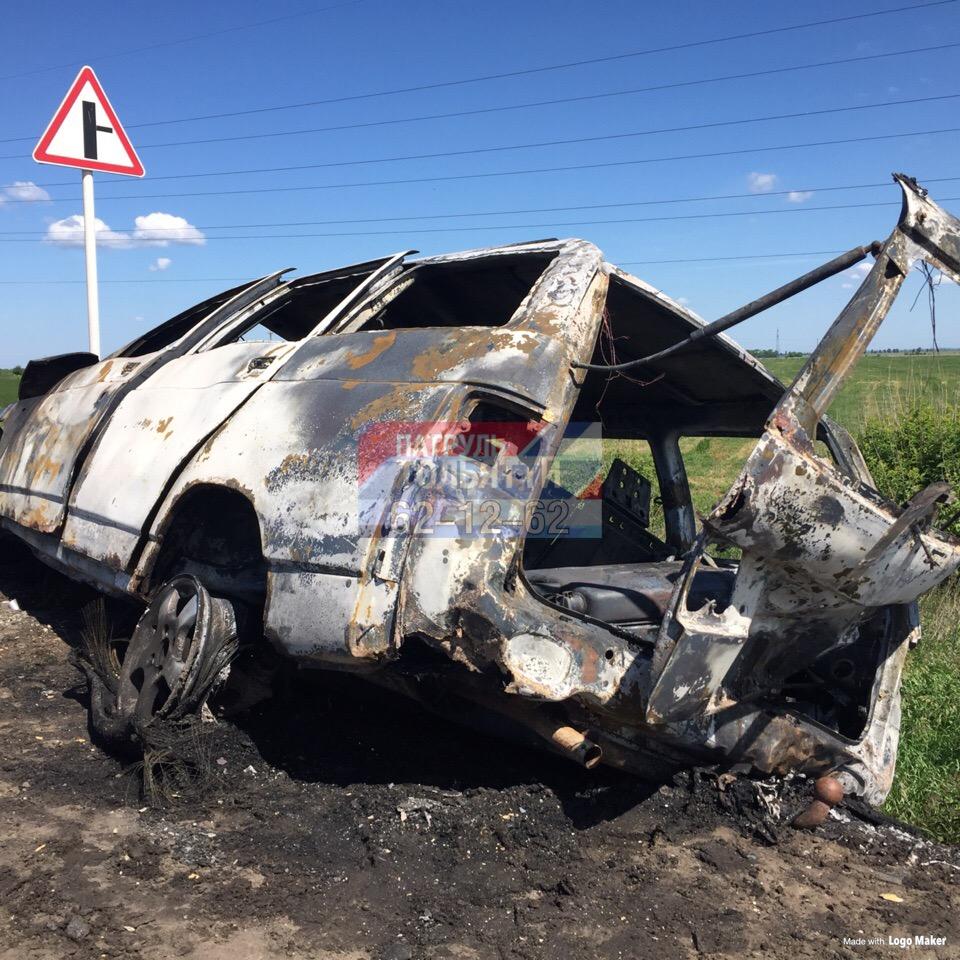 В Тольятти водителю пришлось смотреть, как догорает его автомобиль