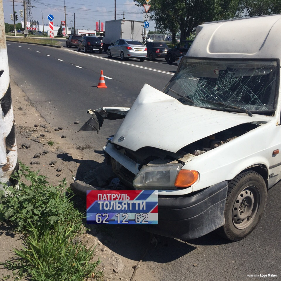 В Тольятти из-за жары водитель врезался в столб