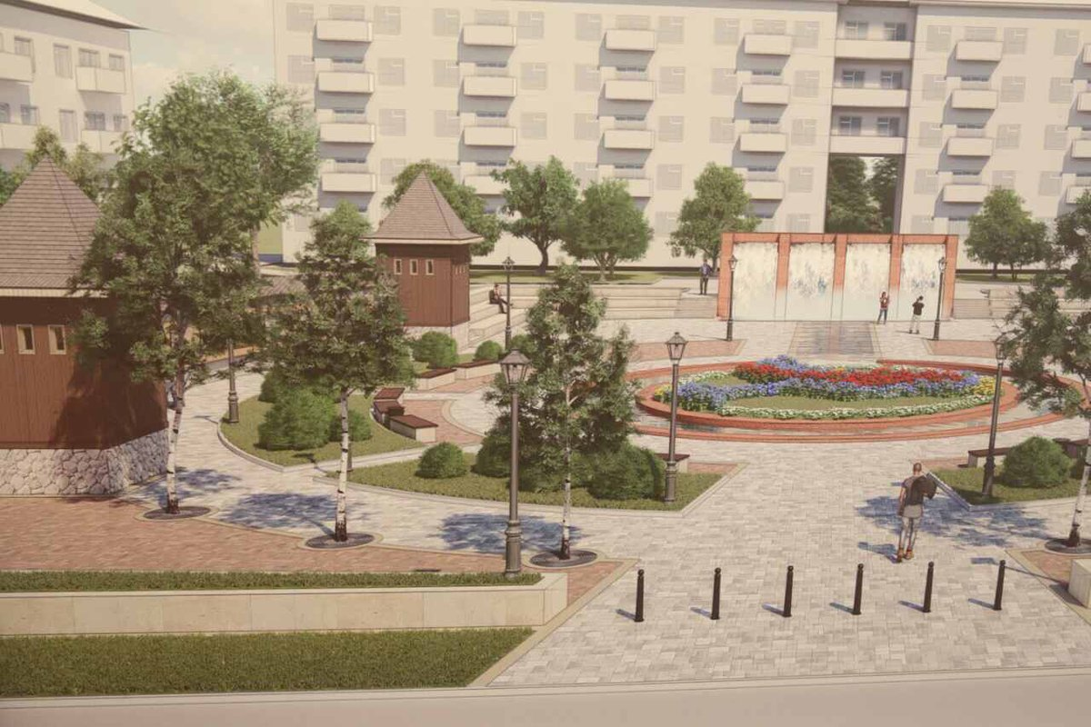 Дмитрию Азарову показали, каким будет новый сквер на месте «Маяка»