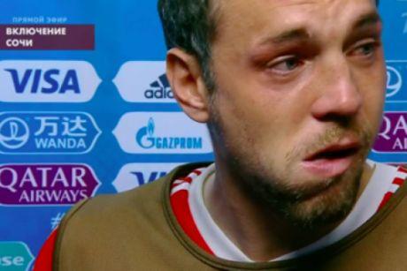 Дзюба пустил слезу после поражения от хорватов на ЧМ-2018
