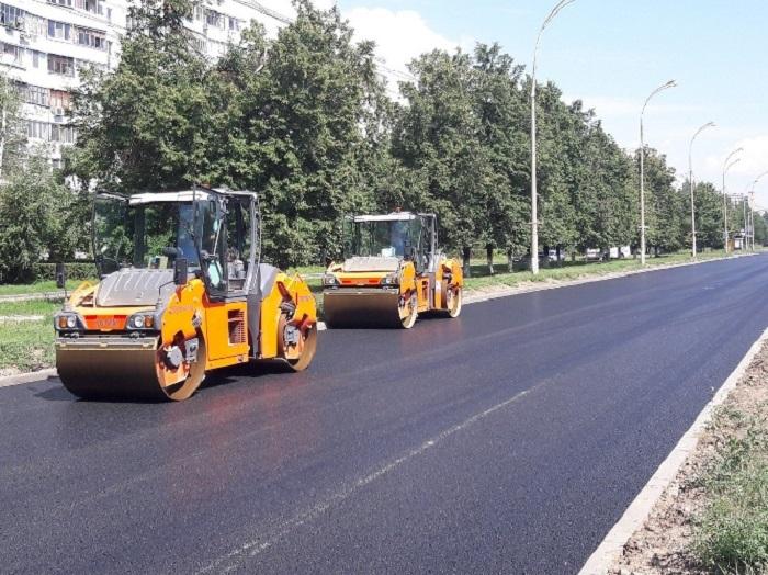 Улица Свердлова укрыта новым асфальтом на 40%