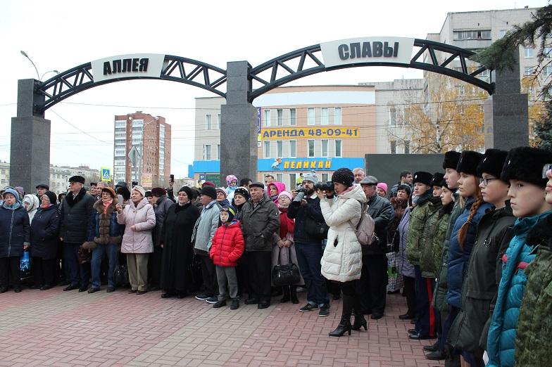 В Тольятти состоялось торжественное открытие городской Аллеи Славы