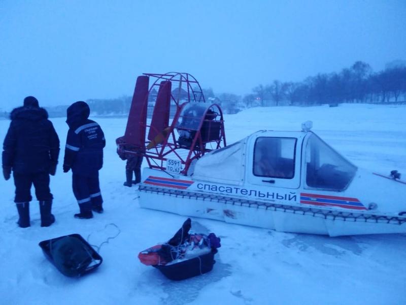 В Тольятти спасали рыбаков, заблудившихся на Волге в метель